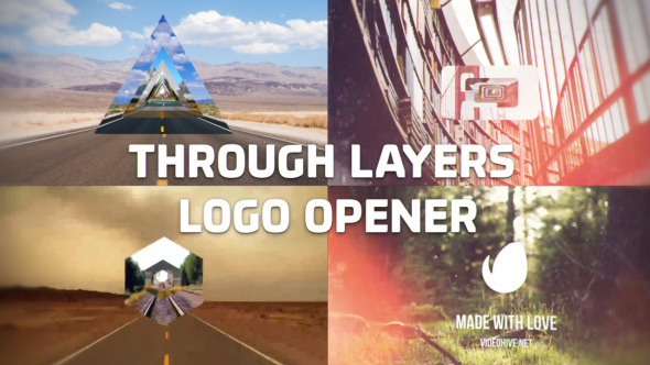 VideoHive Through Layers Logo Opener 12207868