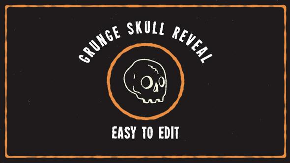 VideoHive Grunge Skull Logo Reveal 12251559