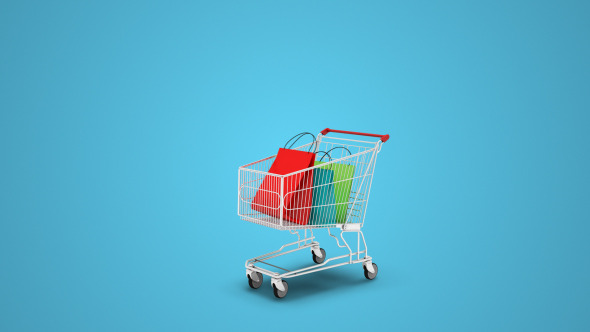 VideoHive Shopping Cart Bags 12323192