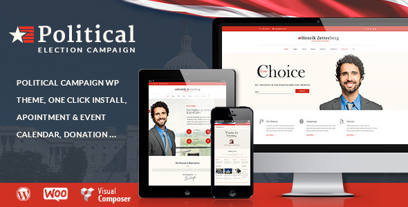 Candidate - Political / Non-profit WordPress Theme