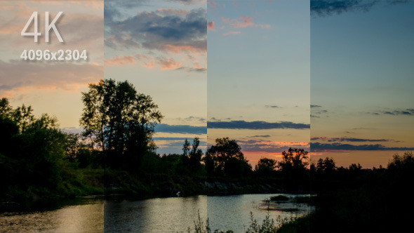 VideoHive Summer Sunset on the River Part II 12323449