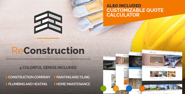 ReConstruction - Construction & Building WordPress Theme