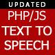 Text-To-Speech PHP/JS script converter