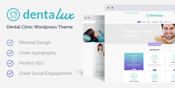 Dentalux - Dentist, Medical & Healthcare Theme