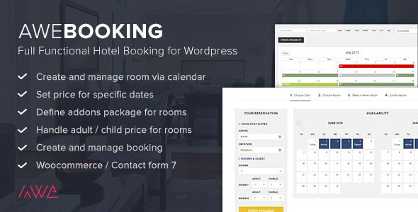 AweBooking - Online Hotel Booking for WordPress - CodeCanyon Item for Sale