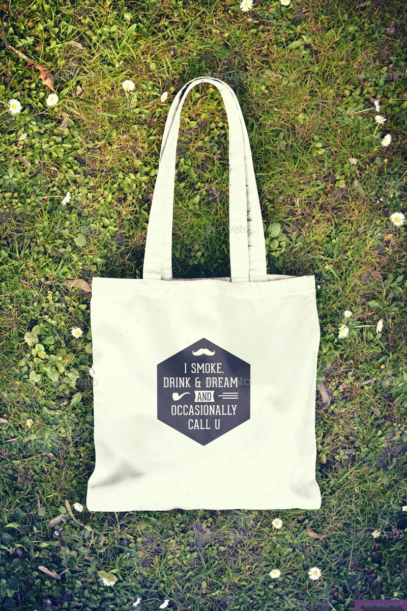 Tote Bag Mock Up By Blackmocca Graphicriver