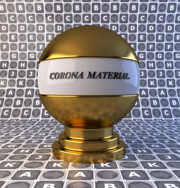 Gold material for corona render  - 3DOcean Item for Sale