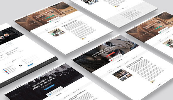Petition WeChange - One Page WordPress Theme