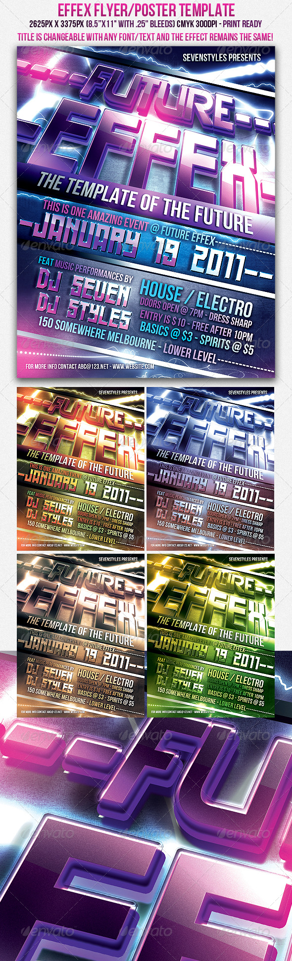 Effex Poster/Flyer Template - Clubs & Parties Events