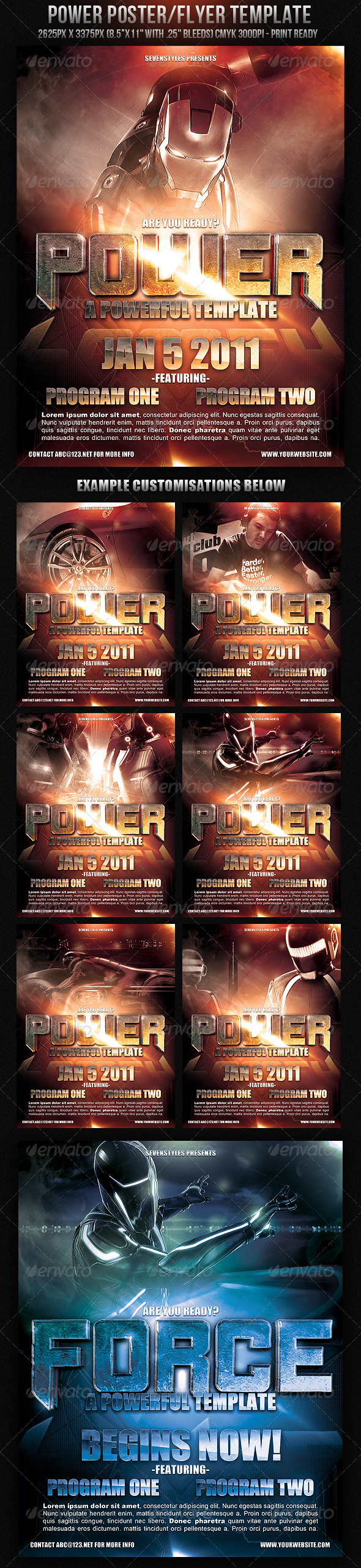 Power PosterFlyer Template - GraphicRiver Item for Sale