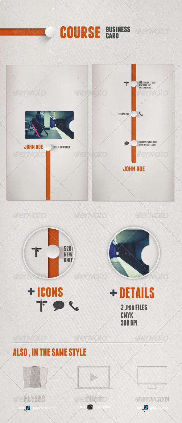 GraphicRiver Course Business Card 1234201