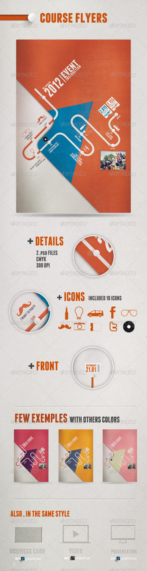 GraphicRiver Course Flyers 1217083