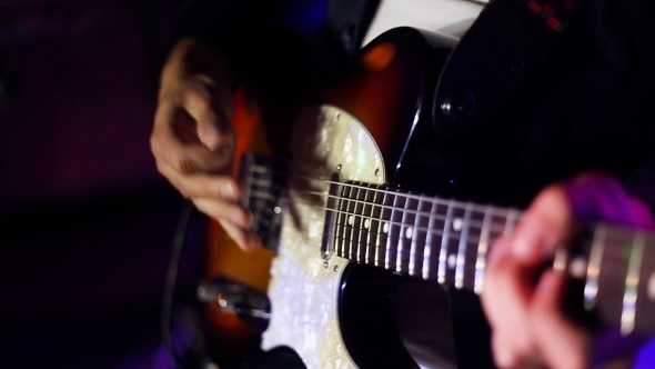 VideoHive Male Musician With Electric Guitar 12324468
