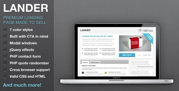 Lander - Premium landing page