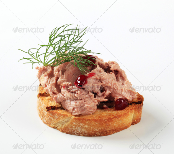 Toasted bread and pate - Stock Photo - Images