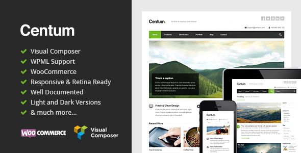 01.  large preview - Centum - Responsive WordPress Theme