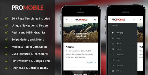 ProMobile | Mobile & Tablet Responsive Template