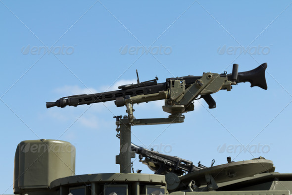 Machine Gun - Stock Photo - Images