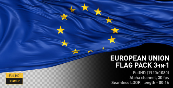 VideoHive European Union Flag Pack 12329512