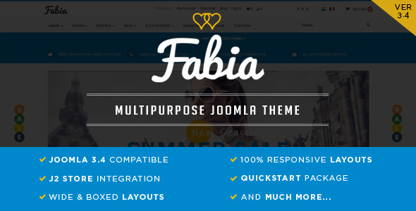 Image of Fabia - Responsive ECommerce Theme for J2Store