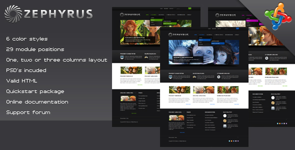 ZEPHYRUS - Creative Joomla Template