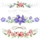 Shabby Chic Watercolor Vignettes