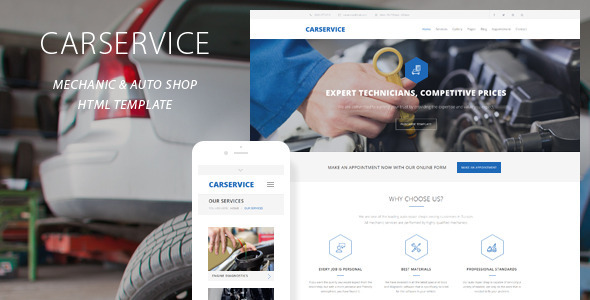 8. Car Service - Mechanic Auto Shop Template