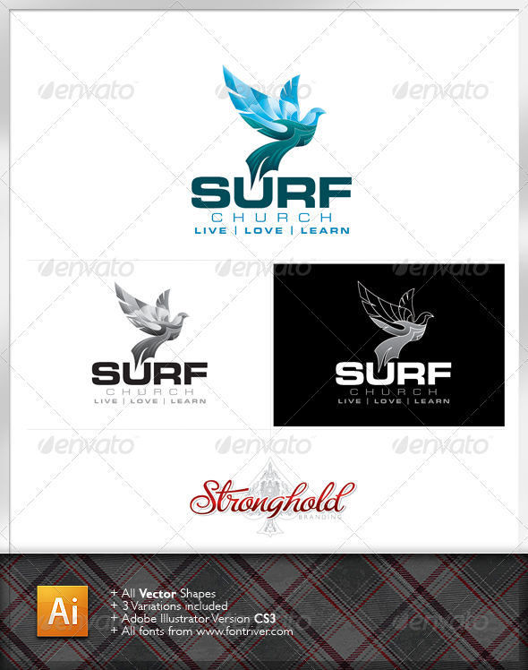 GraphicRiver Surf Church Logo 1235650
