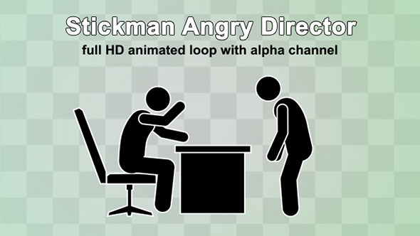VideoHive Stickman Angry Director 12333692