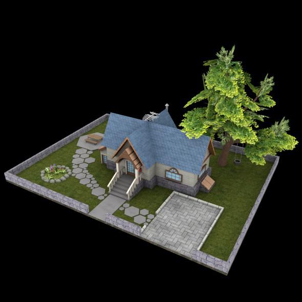 3DOcean Garden House 12334688