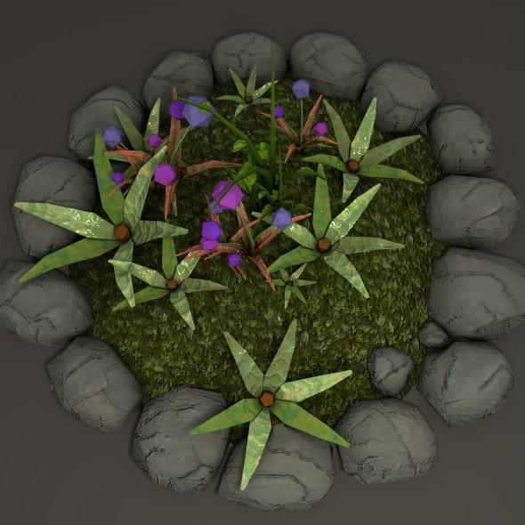 small flower garden - 3DOcean Item for Sale