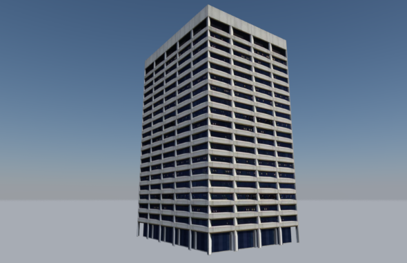 3DOcean Low Poly Building Portland Federal Courthouse 12336167