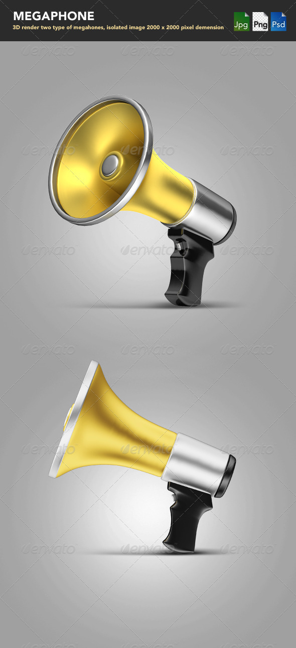 Megaphones  - Objects 3D Renders