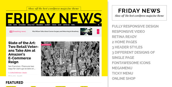 Friday News - HTML5 template