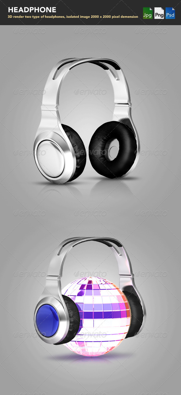 Headphones  - Objects 3D Renders