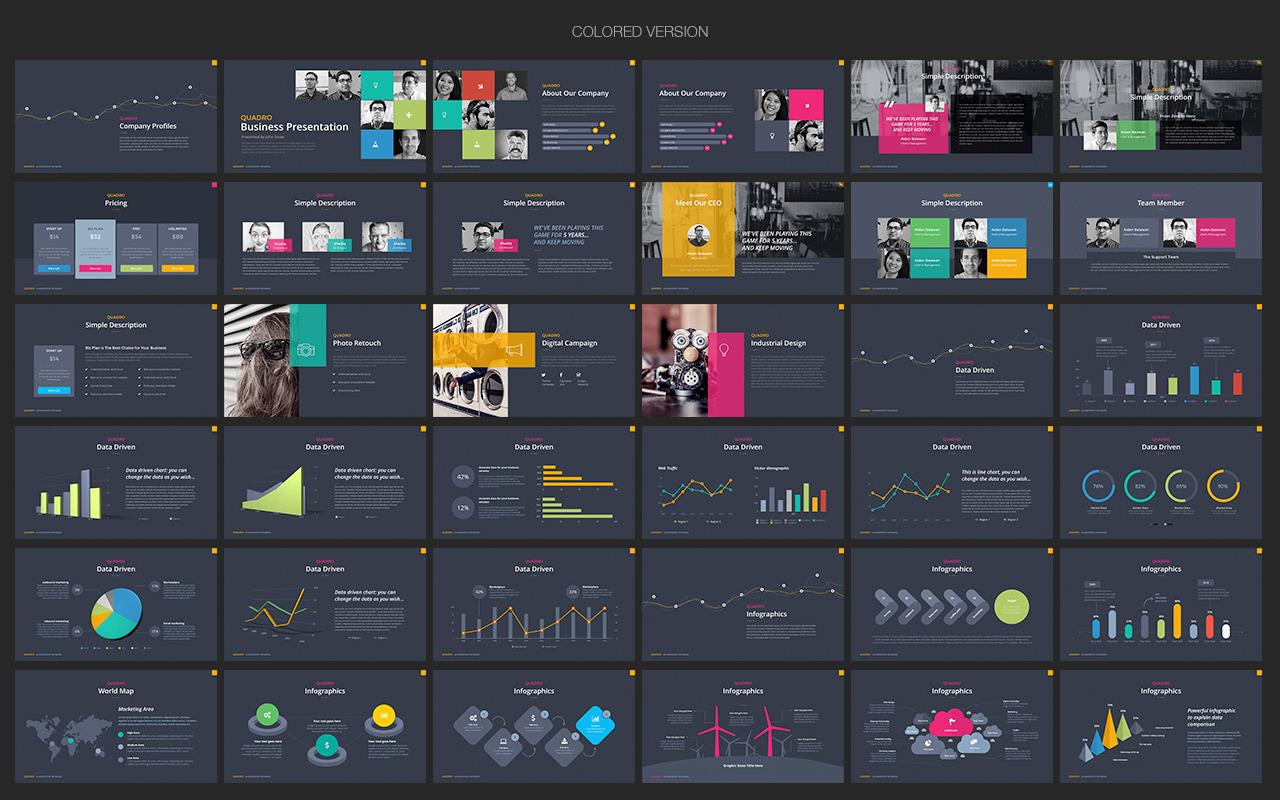 Quadro Multipurpose Keynote Template by Slidehack – Keynote Template
