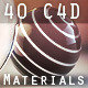 40 Design Materials for C4D - 3DOcean Item for Sale