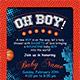 Basketball Baby Shower 4x6 Invitation