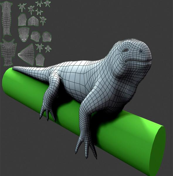 3DOcean Lizard Basemesh 12337350