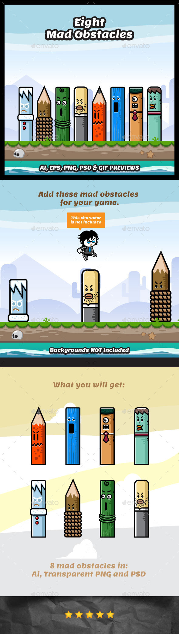 8 Mad Obstacles (Miscellaneous)