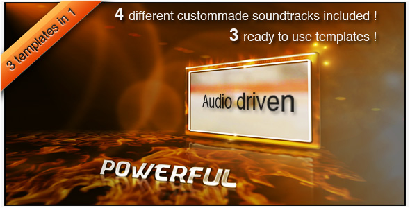 [VideoHive 149933] High Energy Action Pack 3 Audio Driven Templates | After Effects Project
