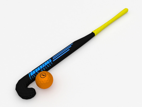3DOcean Hockey stick and ball 12340042