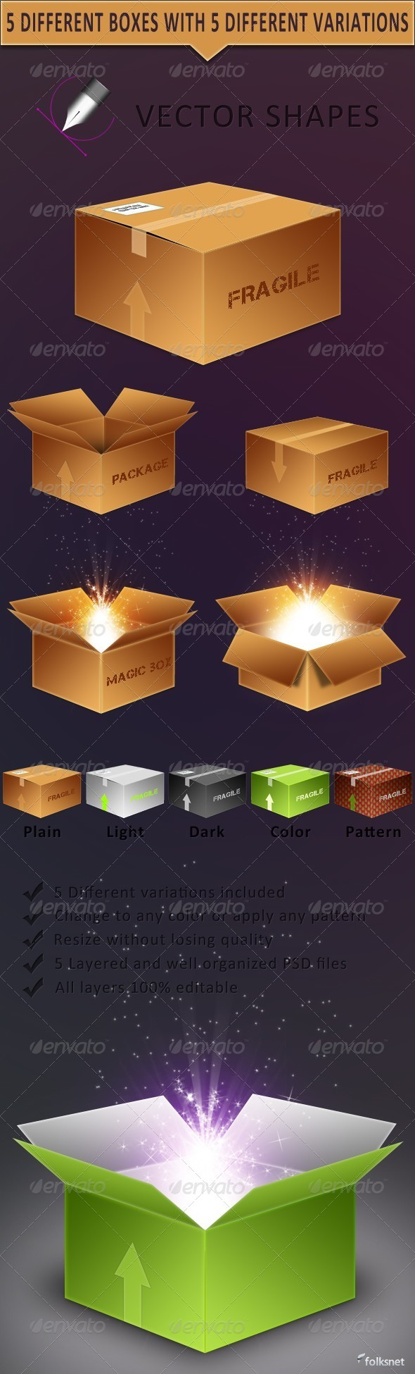 Vector Boxes - GraphicRiver Item for Sale