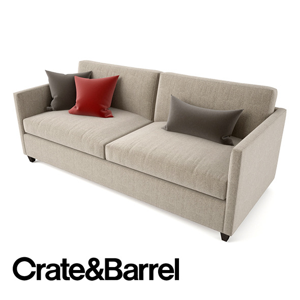 3DOcean Crate and Barrel Dryden Apartment Sofa 12341503
