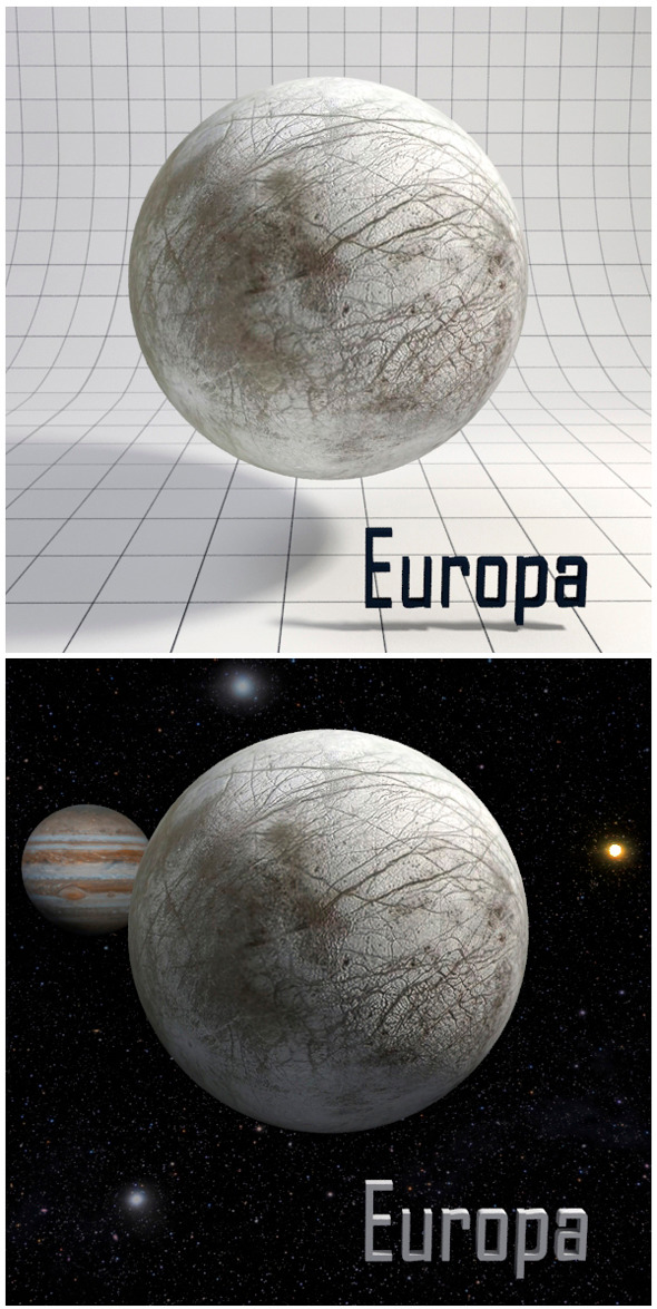 Europa - Realistic HD model - 3DOcean Item for Sale