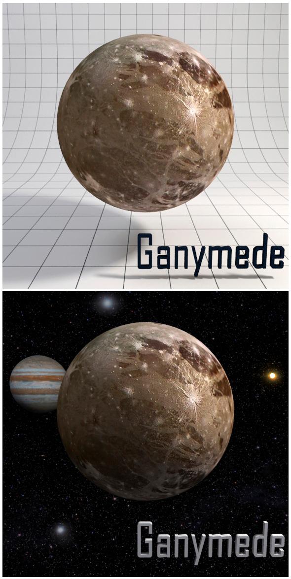 3DOcean Ganymede Realistic HD model 12341591