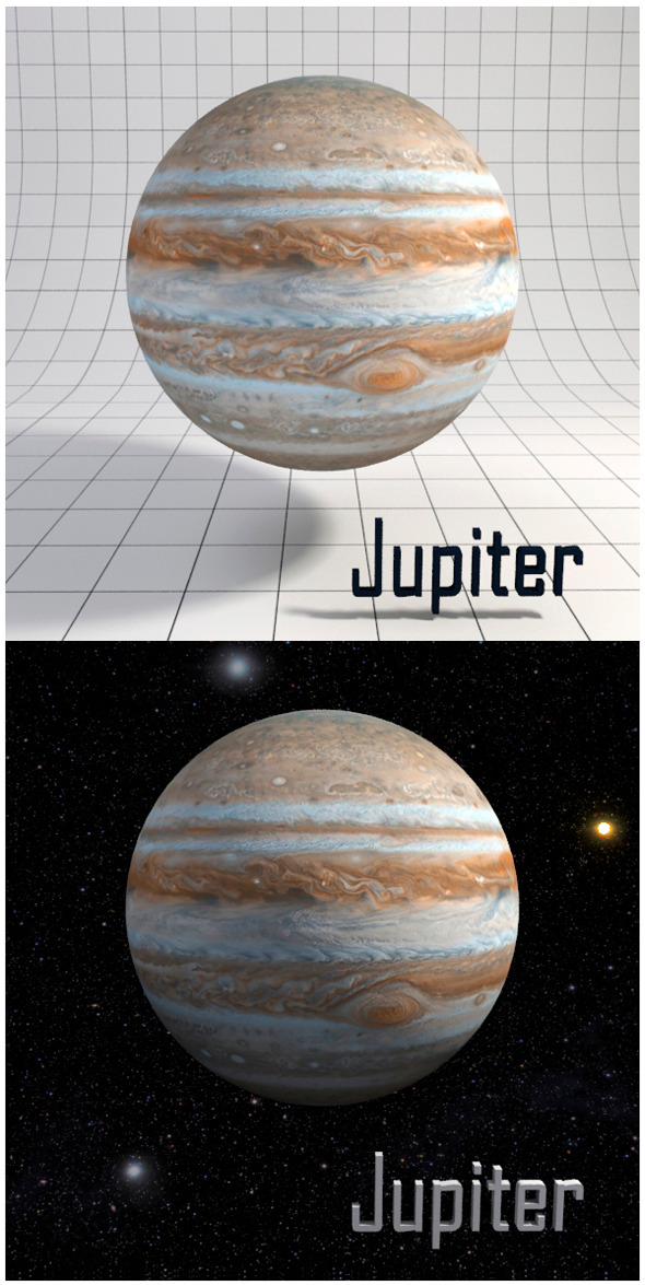 3DOcean Jupiter Realistic HD model 12341598