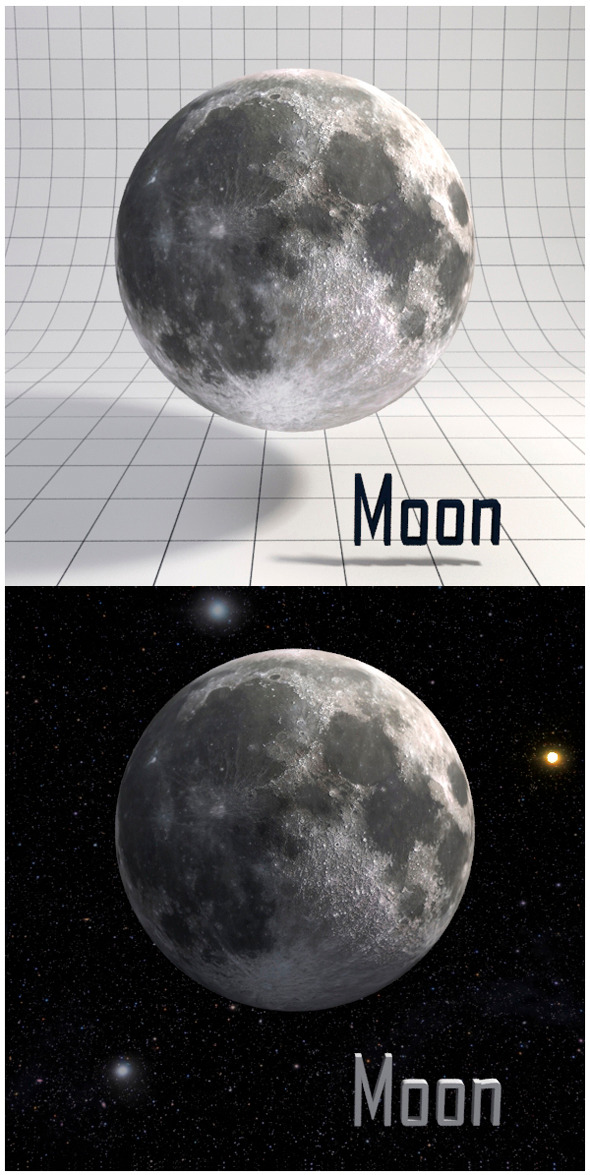 3DOcean Moon Realistic HD model 12341616