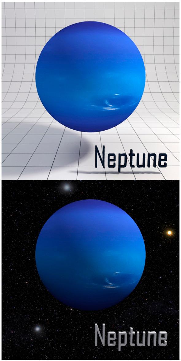 3DOcean Neptune Realistic HD model 12341620