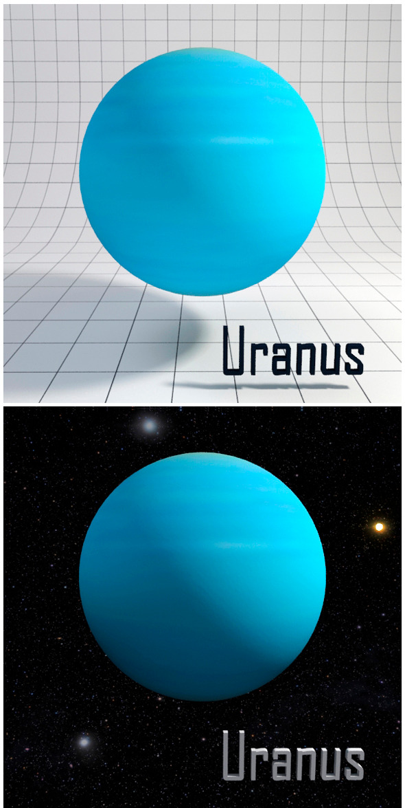 3DOcean Uranus Realistic HD model 12341901